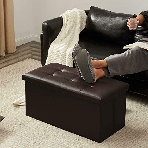 Foldable Large Storage Ottoman Bench Foot Rest Stool/Seat