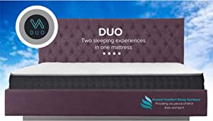 Duo Double Sided California King Mattress, Two Sleeping Experiences in One Mattress, Flippable with A Firm Side and Plush Side, Features Outlast Temperature Regulating Fabric On Both Sides