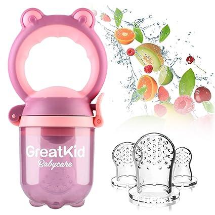 Alimentador de alimentos para bebés Alimentador de frutas Chupete ...