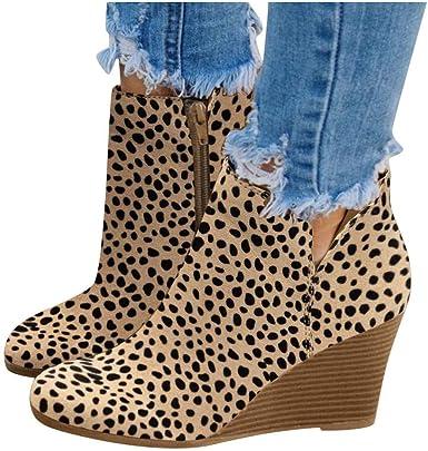 ladies leopard boots