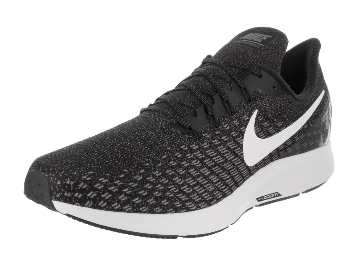 NIKE Men's Air Zoom Pegasus 35 Black/White Gunsmoke Oil Grey Running Shoe 9.5 Men US