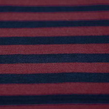 72958cbe7aa Navy Blue & Dark Maroon Red Stripe Single Jersey Knit Fabric 100% Cotton -  sold