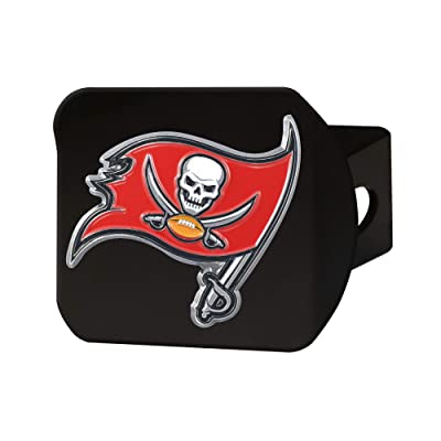 "FANMATS NFL Tampa Bay Buccaneers Metal Hitch Cover, Black, 2"" Square Type III Hitch Cover: Automotive"