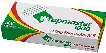 Wrapmaster 1000 clingfilm refills x 3 rolls 100m each