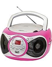 TREVI Radioregistratore CD 512 Lettore CD Radio ingresso Aux Fucsia
