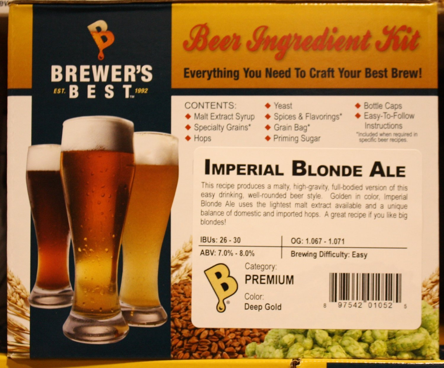 Brewer's Best Imperial Blonde Ale Homebrew Beer Ingredient Kit Home Brew Ohio BIK-1052