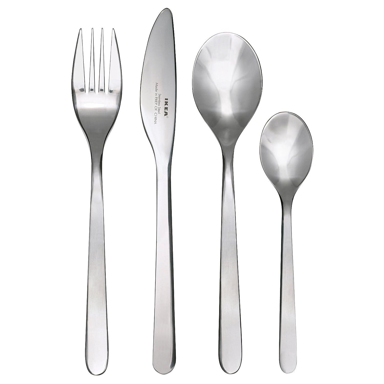Ikea FÖRNUFT Besteck 24-TLG Edelstahl, Silver, 22 x 14 x 4 cm FÖRNUFT2