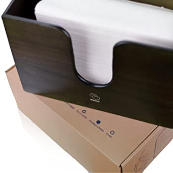 a01676637af Amazon.com  Bamboo Paper Towel Dispenser for Kitchen   Bathroom - Wall  Mount Countertop Multifold Paper Towel