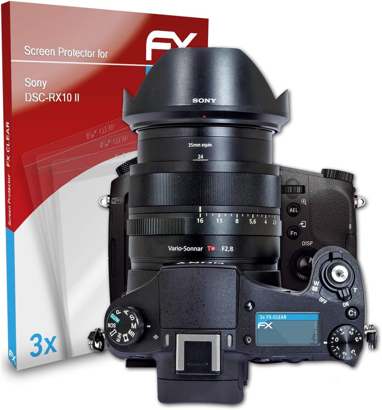 atFoliX Schutzfolie kompatibel mit Sony DSC-RX0 Folie ultraklare FX Displayschutzfolie 3er Set
