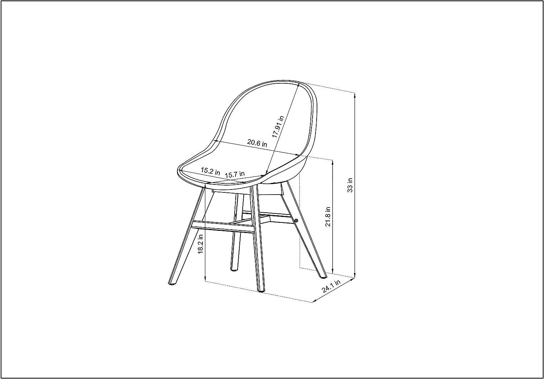 Light Teak Finish Legs Set of 2 ia Cannes Deluxe Patio Dining Sidechair