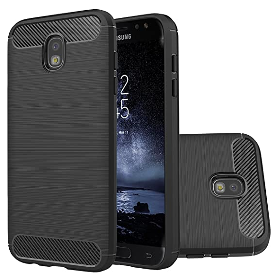 best website 964d7 b908f Samsung Galaxy J7 Pro Case,Galaxy J730 2017 Case,Ultra Thin Light Weight  Case Flexible TPU Bumper Carbon Fiber Shock Absorbing Slim Fit Back Cover  ...