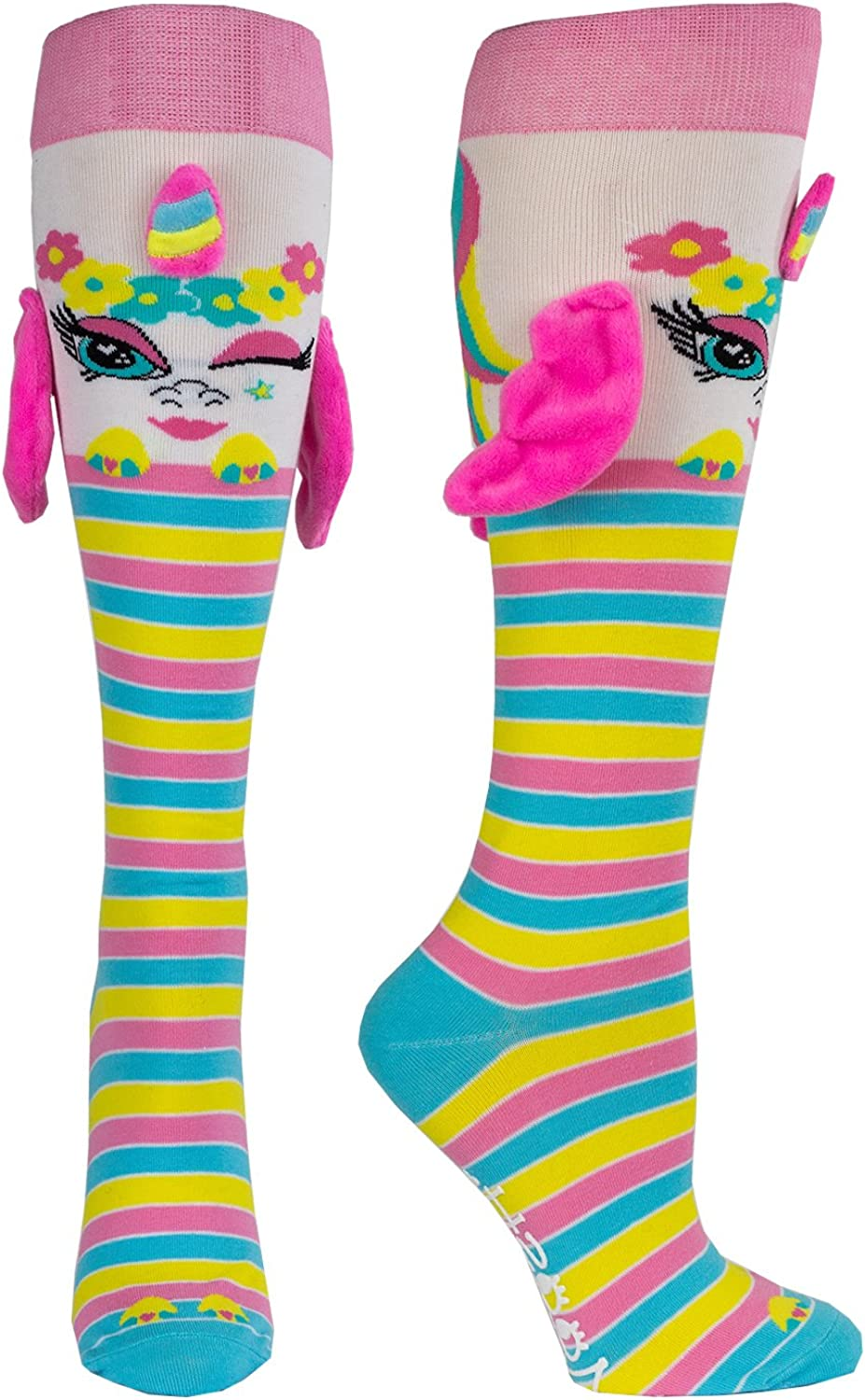 Moosh Walks Funny Fun 3D Socks for Girls and Women | Crazy Novelty Animals Unicorn and more | Age 9+