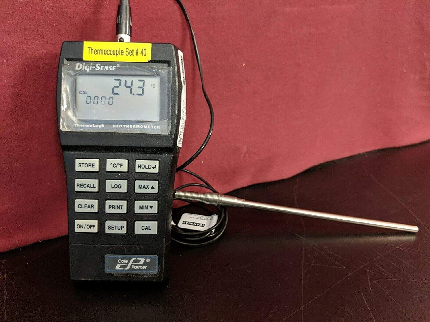 labtechsales Cole Parmer Digi-Sense ThermoLogR RTD Thermometer 0 to 75/° C Without Probe