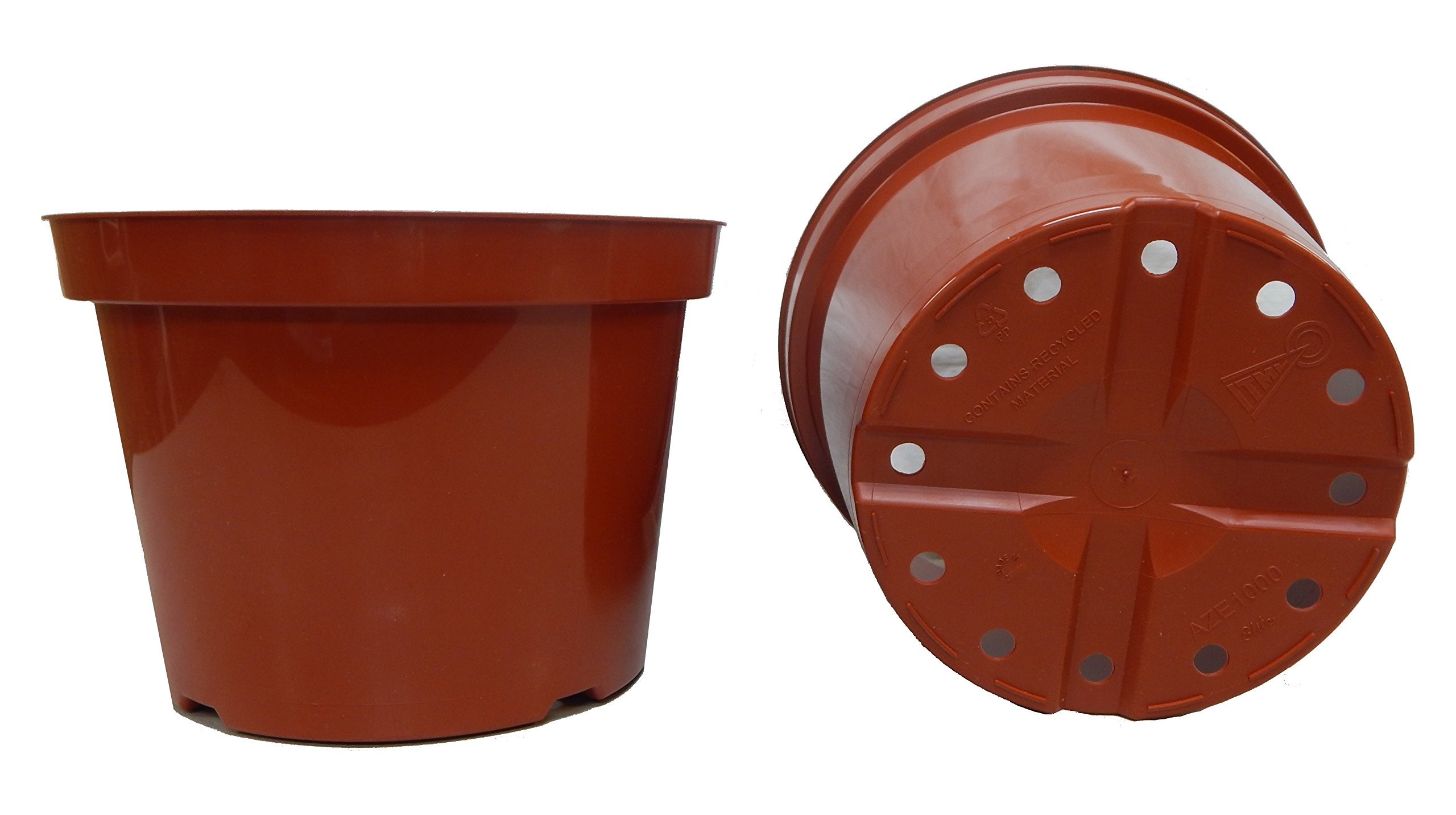 12 NEW 10 Inch Azalea Plastic Nursery Pots ~ Pots are 10 Inch Round At the Top and 7.3 Inch Deep Color Terracotta