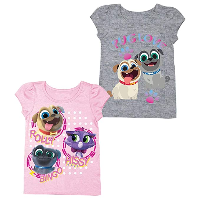 Amazon Com Disney Puppy Dog Pals Shirt 2 Pack Of Puppy Dog Pals
