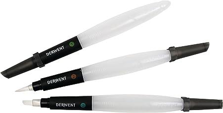 Derwent Art Supplies 2301975 Pincel con depósito de agua, 3 unidades