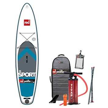 2017 Red Paddle Co 110 Sport Inflatable Stand Up Paddle Board + Bag,