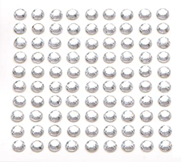 79962c538348 200 x Crystal Self Adhesive Diamante Stick On Rhinestone Gems 5mm by Busy  Bead