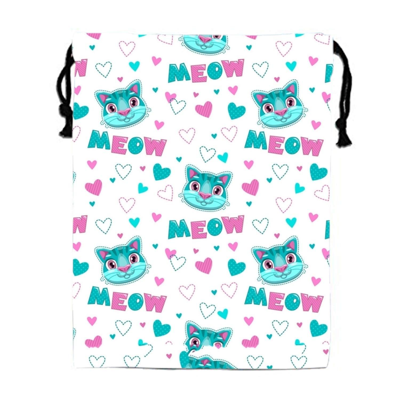 Personality Seamless Pattern Panda Gym Drawstring Shoulder Bag Backpack Caiemreo