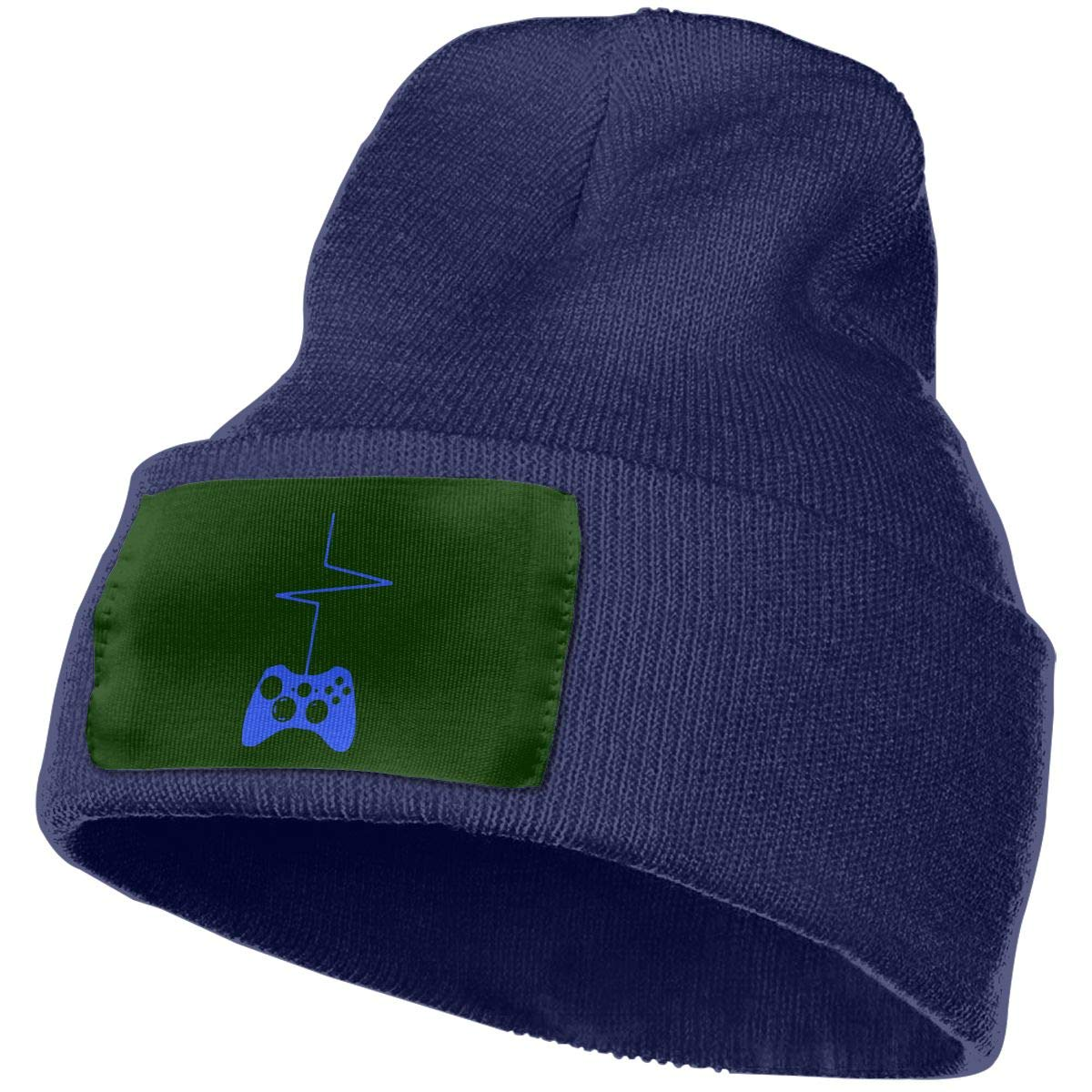 Heartbeat of A Gamer Unisex 3D Knitted Hat Skull Hat Beanie Cap