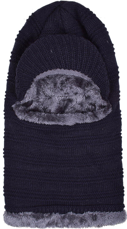e9887e68182 WDSKY Men s Knit Visor Balaclava Hat Windproof Black at Amazon Men s  Clothing store