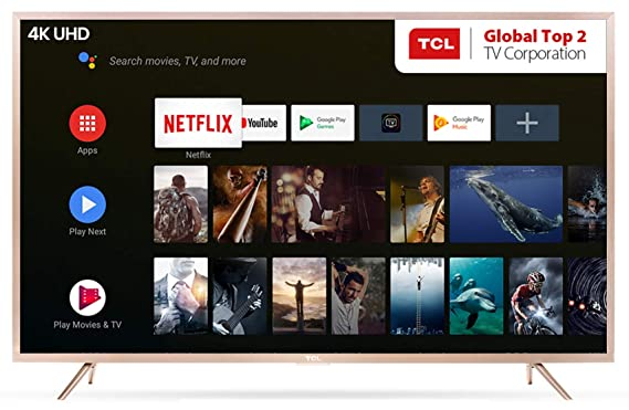 TCL 163 8 cm (65 Inches) 4K UHD Certified Android Smart LED TV L65P2MUS  (Gold)