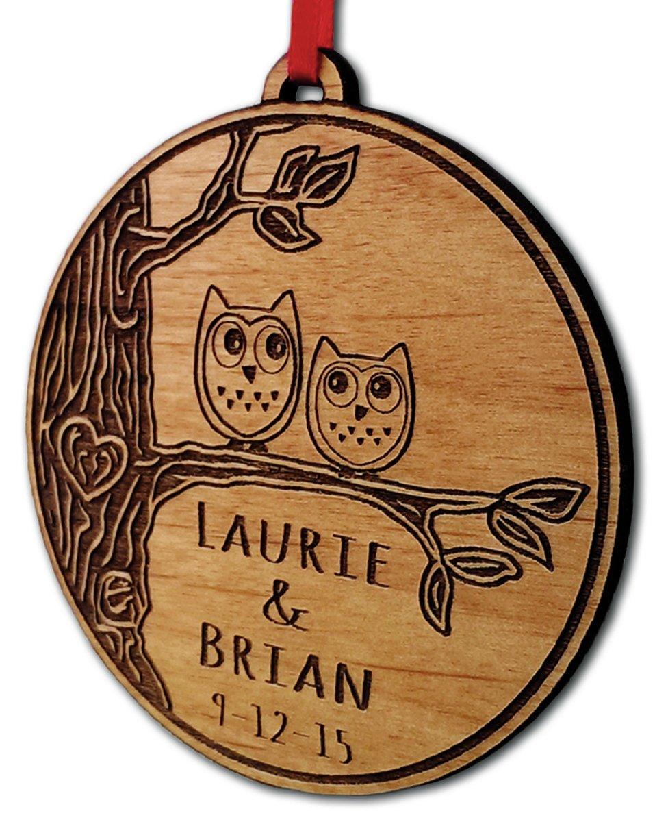 Amazoncom Newlywed Christmas Ornament Owl Love Birds