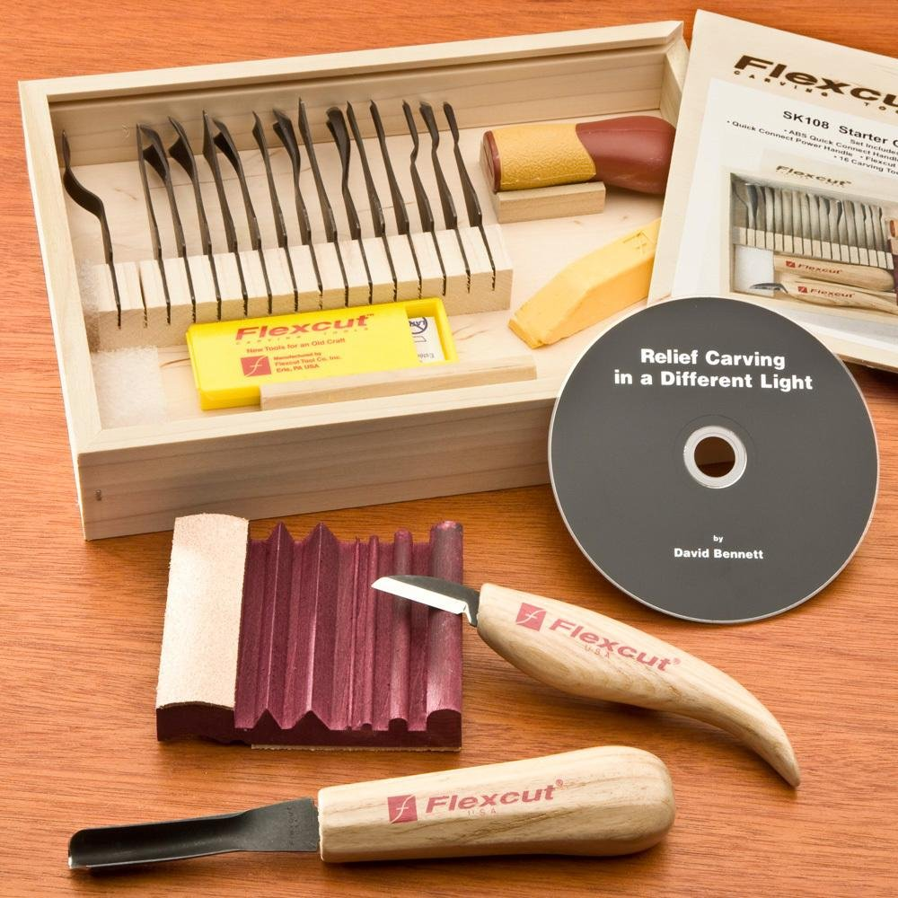 FlexCut 21-Piece Starter Set Flexcut Tool Co
