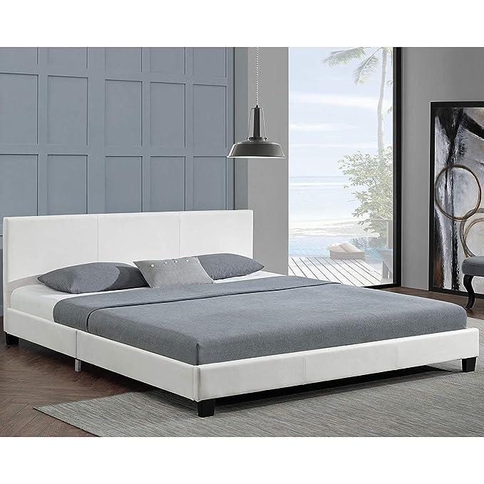 Life Art tapizada (Barcelona - 140 x 200 cm - Color Blanco con somier y colchón de espuma fría: Amazon.es: Juguetes y juegos