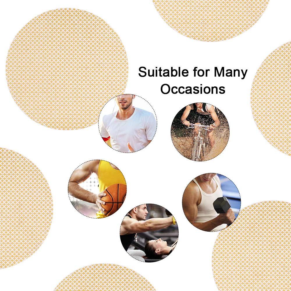 Anself 25 pares 50 UNIDS Hombres Pez/ón Cubierta Corrector Desechable Pez/ón Cinta Protector de Banda Invisible Prevenir Pez/ón Frotamiento Parche Etiqueta