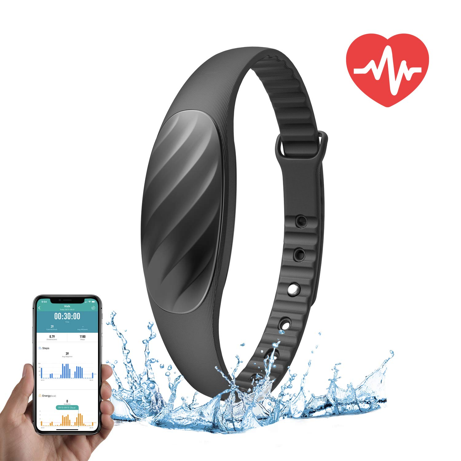 Amazon.com: NexTrend Slim Fitness Band, Tracker Watch with ...