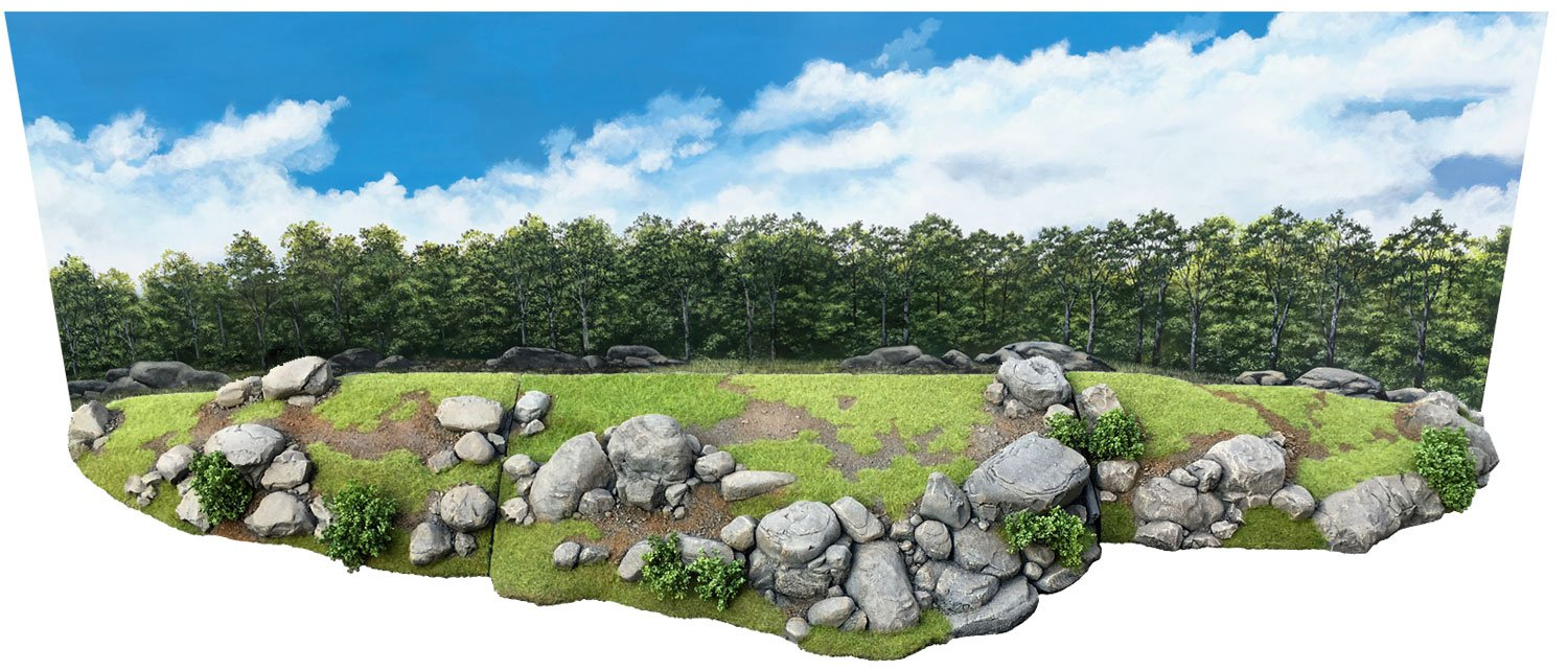 W. Britains Diorama Accessory HA2090 Little Round Top Diorama with Backdrop 1:32 - 1:30 Scale High Density Urethane Foam
