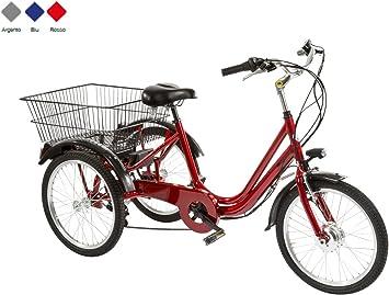 Bicicleta 3 ruedas 20 6 V Modelo TR20 Made in Italy, rojo, 42 cm ...