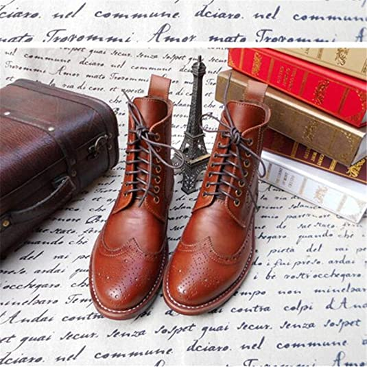 Amazon.com | Skyeshopping Mens Brogues Leather Oxfords Boots in Goodyear Welted Construction | Oxfords