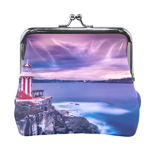 Amazon.com: Lighthouse Scenery - Monedero de piel de alto ...
