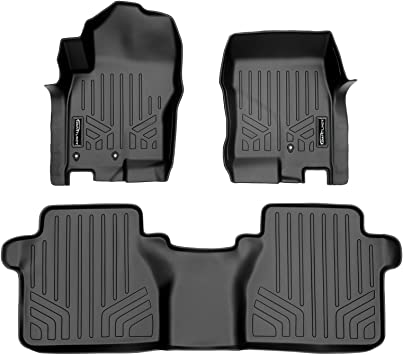 CFMBX1NS7416 Coverking Custom Fit Front and Rear Floor Mats for Select Nissan Altima Models Black Nylon Carpet
