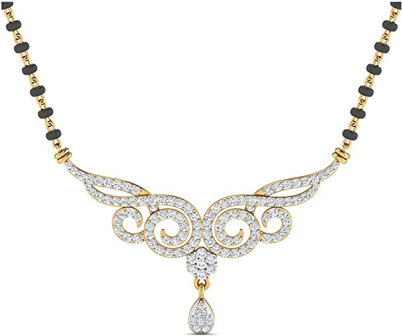 Samaira Gems 14KT Yellow Gold Mangalsutra Necklace for Women Mangalsutras