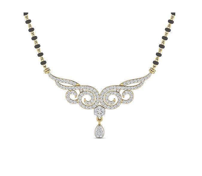 Samaira Gems 14KT Yellow Gold Mangalsutra Necklace for Women Mangalsutras
