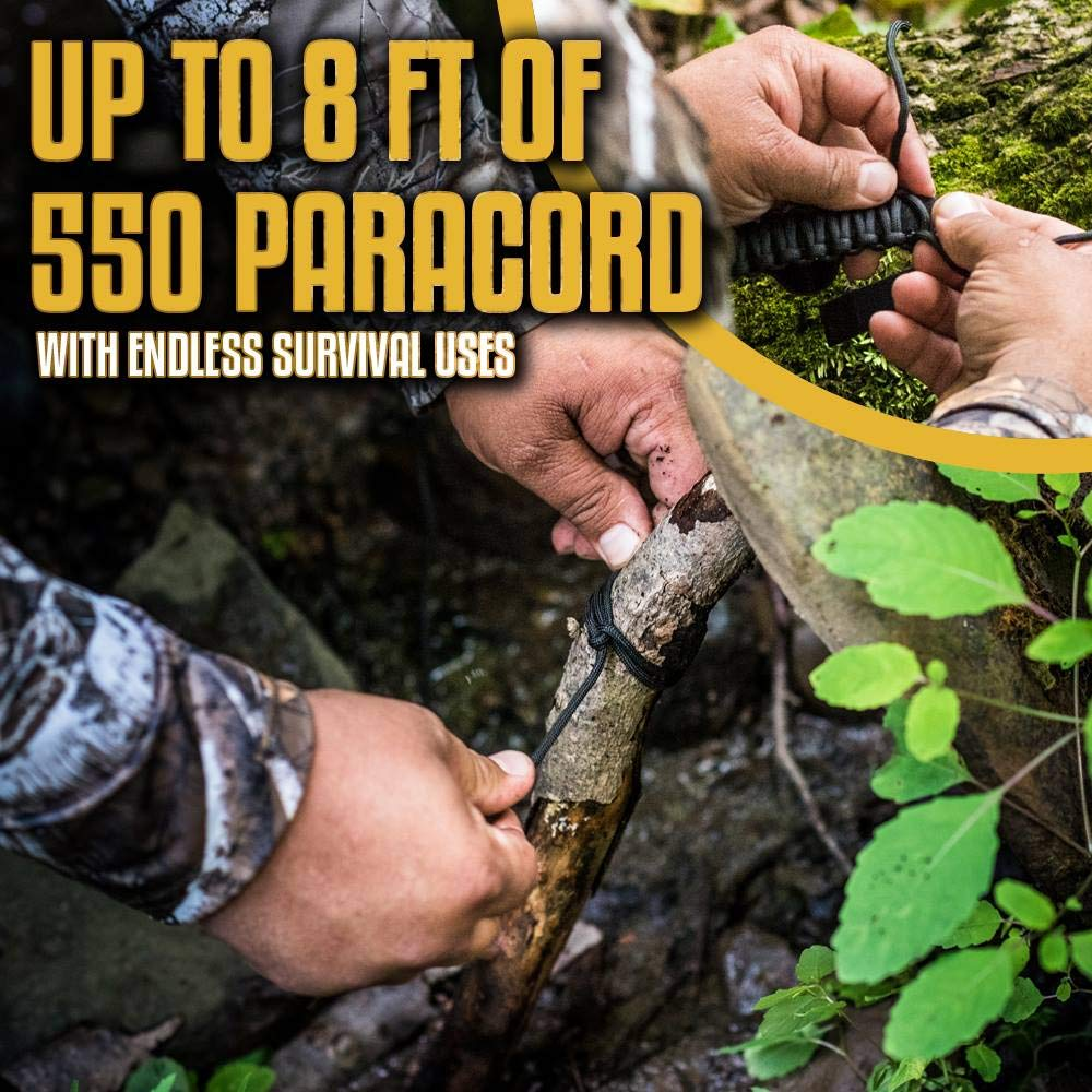 Holtzman/'s #1 Best Paracord Keychain Carabiner Survival Tool