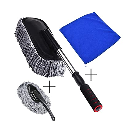 Car Duster -The Best Microfiber Multipurpose Duster -Home Interior Use-Professional Detailing Tool-Comfort Handle: Health & Personal Care