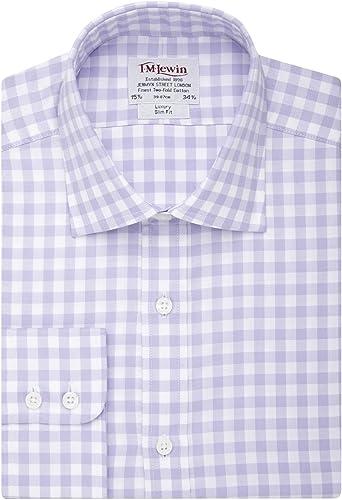 T.M.Lewin - Camisa casual - Cuadrados - Clásico - Manga Larga ...