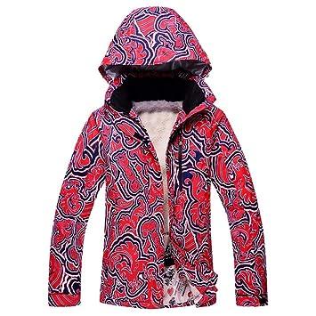 Zjsjacket Traje de Esqui Chaqueta de Nieve para Mujer Impermeable y Transpirable Abrigos de esquí para