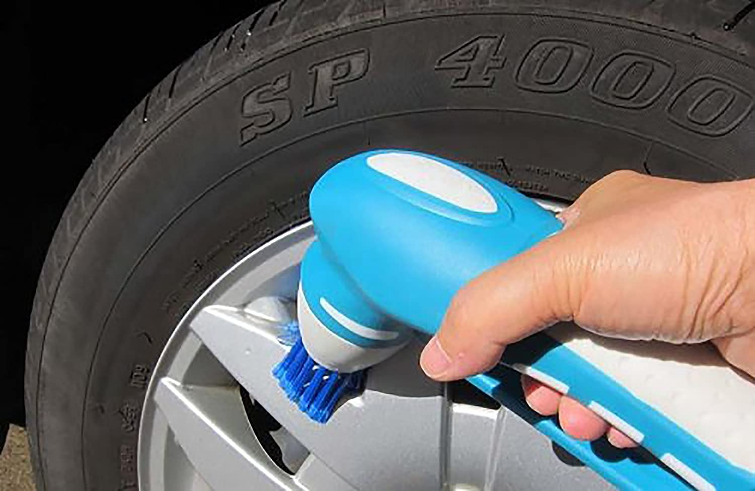 Lewisia Power Scrubber with 2 Rechargeable Batteries 4 Brushes 1 ...