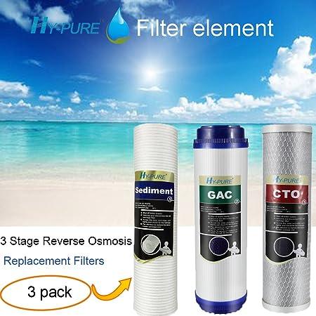 Nuevo cartucho de filtro purificador de agua 5 Etapa hy-pure de 50 gpd membrana RO sistema de ósmosis inversa ...