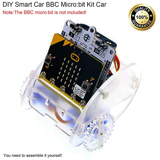 Amazon makerfocus diy smart car bbc microbit kit car acrylic amazon makerfocus diy smart car bbc microbit kit car acrylic programmable with ringbit board and 360 degree servo for road design enable to draw solutioingenieria Images