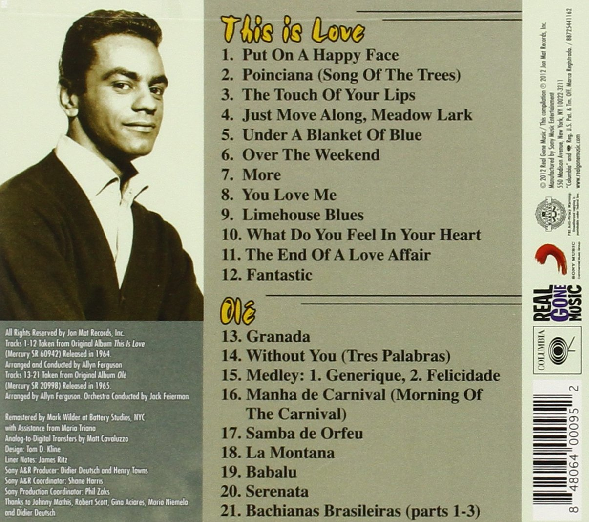Johnny Mathis This Is Love Ole Amazon Com Music
