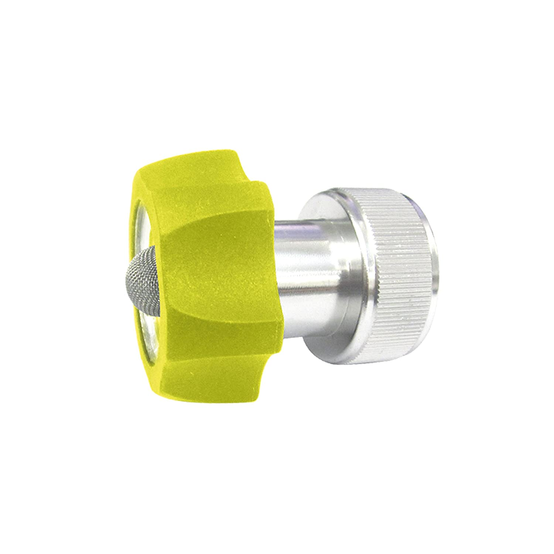 Sun Joe Hose Adaptor Series SPX-AGHA Universal 3/4-Inch Aluminum Pressure Washer to Garden, Green
