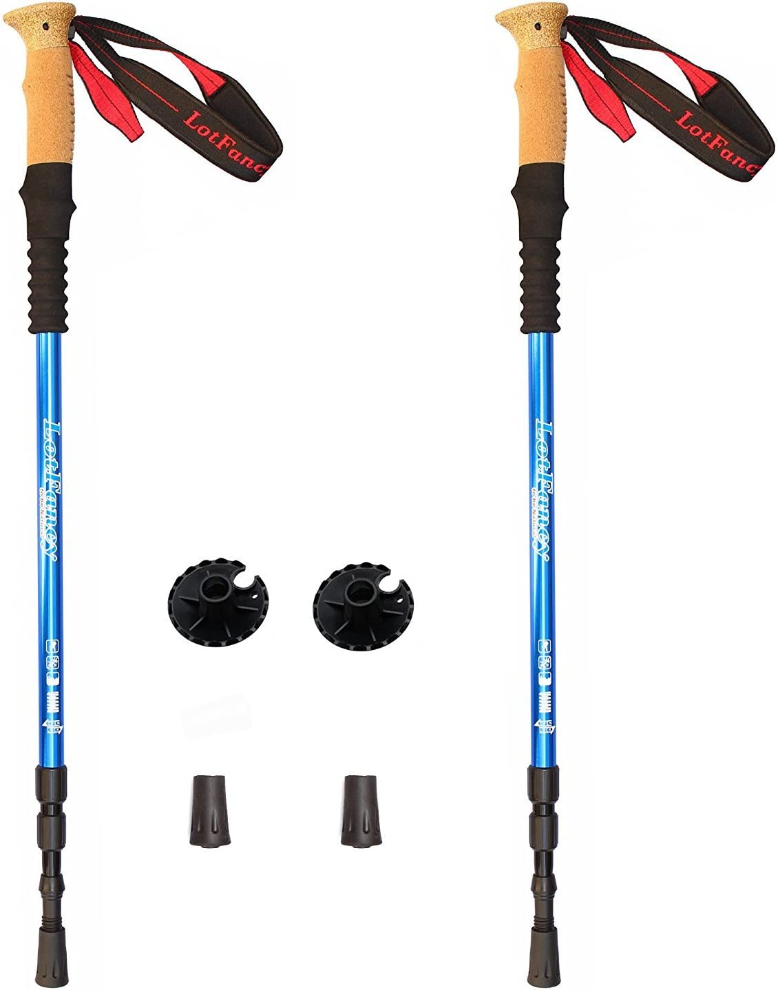 LotFancy Trekking Poles – Ultralight Walking Hiking Sticks, Adjustable Trail Poles for Women Men