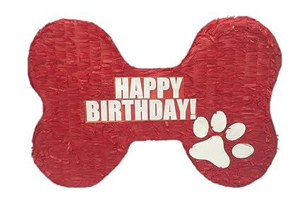 Amazon.com: Feliz Cumpleaños Hueso Pinata 20