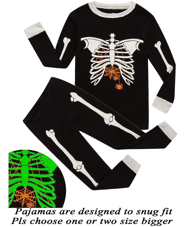Dolphin& Fish Boys Halloween Pajamas Spider Glow-in-The-Dark Toddler Sleepwear Kids Pjs FBA-690GDZZGD